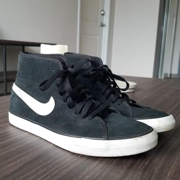 Nike Shoes | Black Nike Mid Tops Womens
